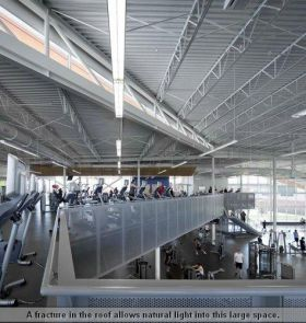 A fracture in the roof allows natural light into this large space. (Photo credit: Bill Timmerman)