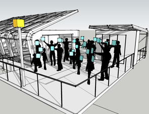 Artist's concept of 'Seed[pop!], an interactive public sculpture that will be unveiled at Solar Fusion 2009 on Aug. 28. Credit: Illustration: Creative Machines, Inc. (Click to enlarge)