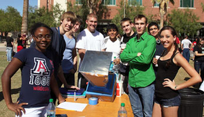 Engineering students at the Solar Oven Throw Down. (Photos by Pete Brown/College of Engineering)