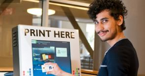 WEPA kiosks accept major credit cards for a fee. It's free to use CatCa$h on a CatCard to pay for the service.