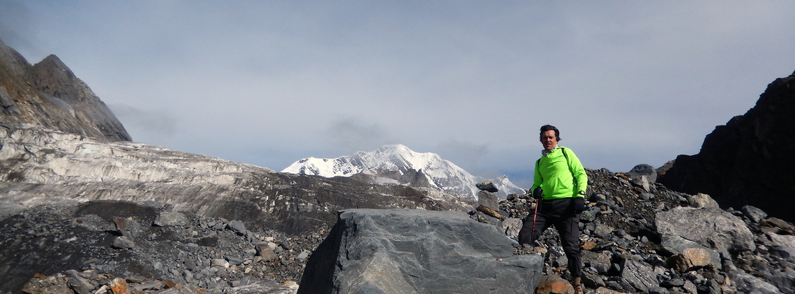 Chris Scott's visits to the Himalaya region now focus on both science and policy. (Photo: Courtesy of Chris Scott)