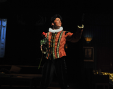 "Max (Brian Klimowski) sings his heart out on stage in ""Lend Me a Tenor."""