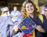 """""""I'll miss my friends and family, they've really helped make this place a home,"""" said Madison Dawn, a chemistry major from Phoenix, who will begin working at Mayo Clinic after graduation."""