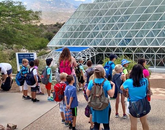 Summer camp members take a tour of Biosphere 2. (Photo courtesy of Flandrau Science Center and Planetarium)