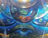 A piece by Vyal One (Yaqui). (Photo: Ashley Tsosie-Mahieu)