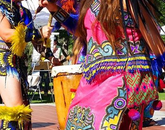 Grupo Coatlicue is an Aztec Chichimenca-style dance group. (Photo: Ashley Tsosie-Mahieu)