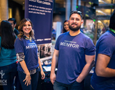 Participants were able to connect with mentors throughout the weekend. (Photo courtesy of Hack Arizona)