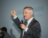 UA Provost Andrew Comrie speaks about the importance of nurturing a creative culture. (Photo courtesy of Hack Arizona)