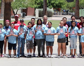 More than a dozen middle school students participated in this year's program.