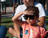 Kaleila Rodriguez, 5, watching her first rocket launch. (Photo credit: Ernesto Trejo/UANews)