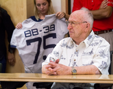 WWII veteran Lauren Bruner, a crewman on board USS Arizona during the attack on Pearl Harbor, was the second-to-last man to leave ship. (Photo: Ernesto Trejo/UANews)