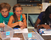 Students create their own water-inspired artwork.