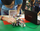 Students from Mexico participating in an international exchange program created the robots.
