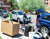 Move-in will continue through the weekend leading up to the start of classes on Aug. 25.