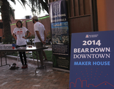 Bear Down Downtown was organized as part of the UA's 100% Engagement initiative, the University's commitment to involve students in real-life experiences.