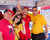 Setting rivalry aside, some UA and ASU fans tailgate together.