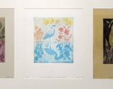 """Three Birds,"" intaglio prints by Olivia Peake, a studio art student."