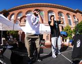 Phoenix hip-hop duo Shining Soul perform. The performers are Bronze Candidate and MC Liaizon (Tohono O'odham). (Photo: Lexi Obara)
