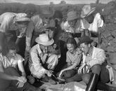 Emil Haury commented as early as 1938 on the need for a permanent field training facility in archaeology, but it was not until after World War II when he was able to establish the camp at Point of Pines that served as the site for the Archaeological Field School for 15 years. (Photo: E. B. Sayles, courtesy of the Arizona State Museum)