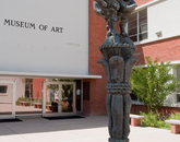"The bronze ""Lesson of a Disaster"" by internationally known Cubist sculptor Jacques Lipchitz is in the UA Museum of Art courtyard. (Photo: Patrick McArdle/UANews)"