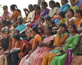 UA anthropology professor Mimi Nichter in Karnataka, India. Since the 1970s, Nichter has been conducting longitudinal ethnographic research on local health cultures in rural South India (in coastal regions of Karnataka).