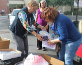 UA volunteers and donors included employees of the College of Nursing, the Department of English and the Office of the General Counsel.