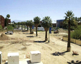 Construction of the UA's Alumni Plaza, located just south of the Administration Building, from the 2004 yearbook.