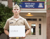 """Midshipman 2nd Class Philip Robert Wetherbee, a junior in natural resource management, says he would like to exemplify honor in the coming year. """"Honor is always doing what you feel is right,"""" he said. """"After this year, I will be a senior — the pinnacle of ROTC and you have to be a set a good example for the younger class and help ensure the NAVY has good officers in the future."""""""