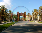 "Nicole Barron's ""Outside the Bubble"" was taken during the spring 2015 Arizona in Barcelona/CEA – University of New Haven program. The photo is of the Arc de Triomf in Barcelona, Spain. (Photo: Nicole Barron)"