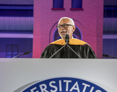 """It's your generation that's going to land humans on Mars. That's an amazing thing to contemplate. The feet in the first boots on the Red Planet could be here in this ceremony tonight,"" said Maj. Gen. Charles F. Bolden Jr., UA Commencement keynote speaker. ""Your generation, the Mars Generation, is also going to take the data from the amazing fleet of Earth observation satellites flying overhead to help humanity solve the challenges we face from climate change."""