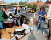 UA volunteers cooked and donated turkey, ham, casseroles, salad and desserts, plus other goodies.