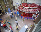 The UA Richard F. Caris Mirror Lab is internationally recognized for producing giant, lightweight mirrors of unprecedented power for a new generation of optical and infrared telescopes. The UA is one of the partner institutions helping to build the Giant Magellan Telescope, a project scheduled to be completed in 2021. (Photo credit: Martha Lochert)