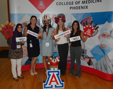 UA College of Medicine – Phoenix students at the photo booth.