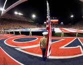 The football game against Hawaii included a remembrance ceremony in honor of the 75th anniversary of the attack on Pearl Harbor (Photo: Emily Gauci/Arizona Athletics)