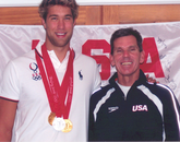 Matt Grevers (left), Men's Swimming (USA), pictured with Frank Busch