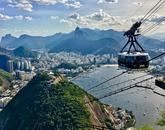 Hannah Barnes, a junior majoring in management information systems, captures a breathtaking view of Rio de Janeiro from high above the city during the Eller Global Cohort in Brazil program.