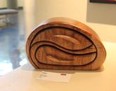 A wooden craft piece.