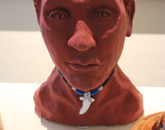 Sculpture of a Hawaiian man.