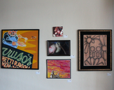 Paintings, drawings and photographs.