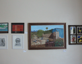 Paintings, photographs and drawings.
