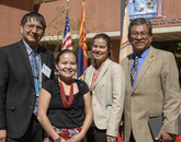 Navajo Nation Vice President Jonathon Nez, Karletta Chief, Paloma Beamer and Navajo Nation President Russell Begaye.