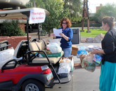 """""""The response from campus was overwhelming,"""" said Sheila McGinnis (left), the outreach and community partners director for the UA Office of Community Relations."""