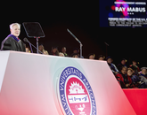 Ray Mabus begins his keynote address to the Class of 2018. (Photo: John de Dios/UANews)