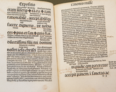 Gabriel Biel wrote about social, religious and economic issues, and Special Collection staff believe the written text was produced by a previous owner of the book.