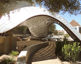 """""""My favorite campus shady spot is the Pentapus Gridshell structure west of the CAPLA building. Besides being a beautiful feature, it shows what collaboration can accomplish. CAPLA students and Facilities Management employees working side by side built the structure."""" – Mark Marikos, program coordinator, Facilities Management"""