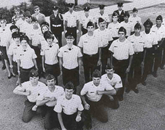Members of the UA's ROTC program in the 1976 yearbook.