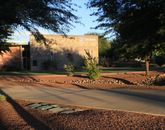 """""""We have an amazing campus! The evening light coming through the Huachuca Mountains created some great shadows. We love it down here. If you have never visited the UA South campus in Sierra Vista, plan on a trip. Cochise County is Wildcat Country, too!"""" – Ed Roskowski, director of marketing, UA South"""