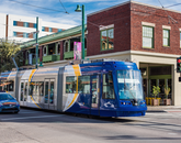 The Tucson streetcar runs through Tucson's downtown culinary hub.