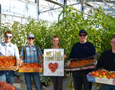 """Students at the Controlled Environment Agriculture Center in the Teaching Greenhouse, where any student, regardless of major, can learn how to grow sustainable and nutritious food!"" – Austin Smith, program coordinator, CEAC"