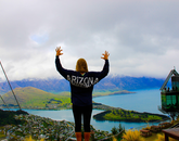 Lexy Davis, a 2016 graduate with a degree in care, health and society, has the Wildcat spirit atop the Skyline Gondola in New Zealand. The UA offers programs in New Zealand that allow students to explore engineering, architecture, ecotourism and other topics.